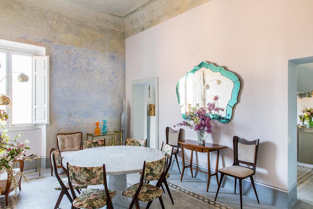 PALLAZO RAVEGGI TUSCANI SISTINE CHAPEL RESTORATION INTERIOR DESIGN LIVING ROOM