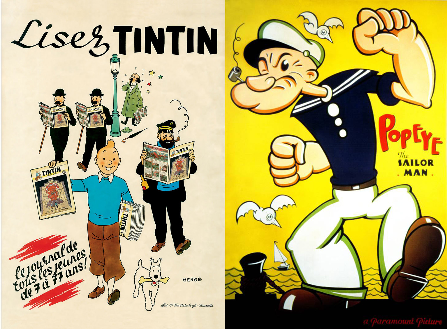 POPEYE-TINTIN-TURNING-90-AND-FABULOUS-CARTOON-ANNIVERSARY