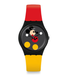 swatch x damien hirst mickey mouse disney collection art tribute red
