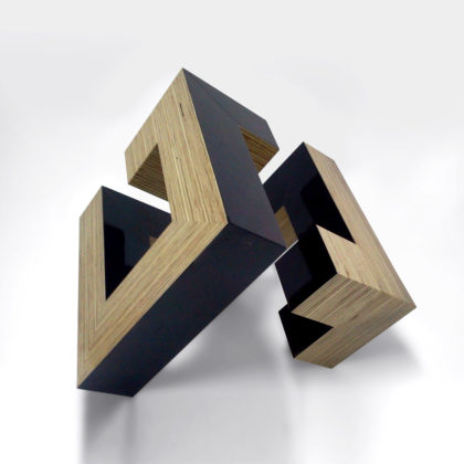 PICTOCLUB Sculpture - TABLEX DIAGONAL CUBE- Josecho López Llorens