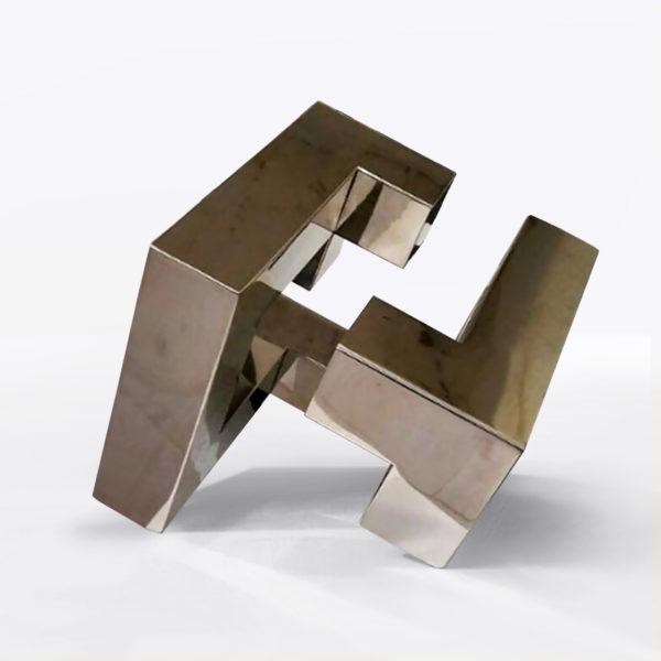 PICTOCLUB Sculpture - STEEL DIAGONAL CUBE - Josecho López Llorens