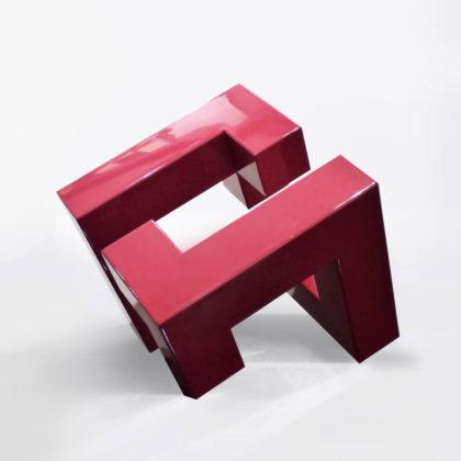 PICTOCLUB Sculpture - METALIC DIAGONAL CUBE - Josecho López Llorens