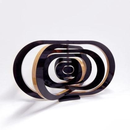 PICTOCLUB Sculpture - ARMILLAR 7 Black- Josecho López Llorens