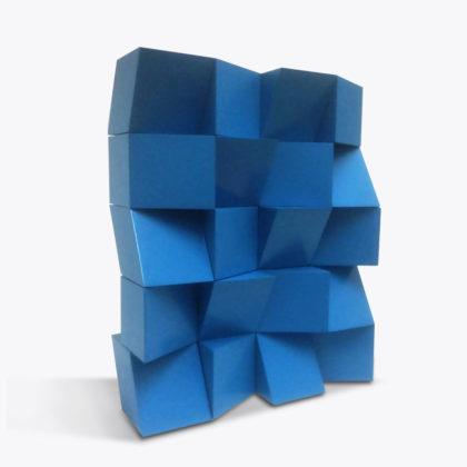 PICTOCLUB Sculptures - GLOSSY BLOCK BUILDING BLUE - Josecho López Llorens