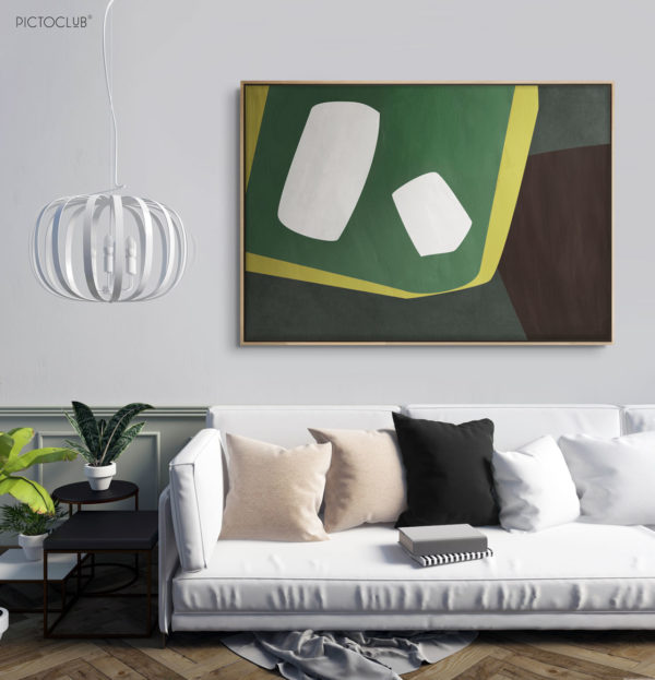 PICTOCLUB Painting - GREEN DAGOBAH - Pictoclub Originals