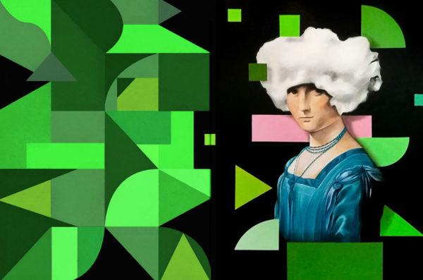 Premios Interiores 2019 - PICTOCLUB Painting - LA BELLE ET LE NOUAGE - Pictoclub Originals