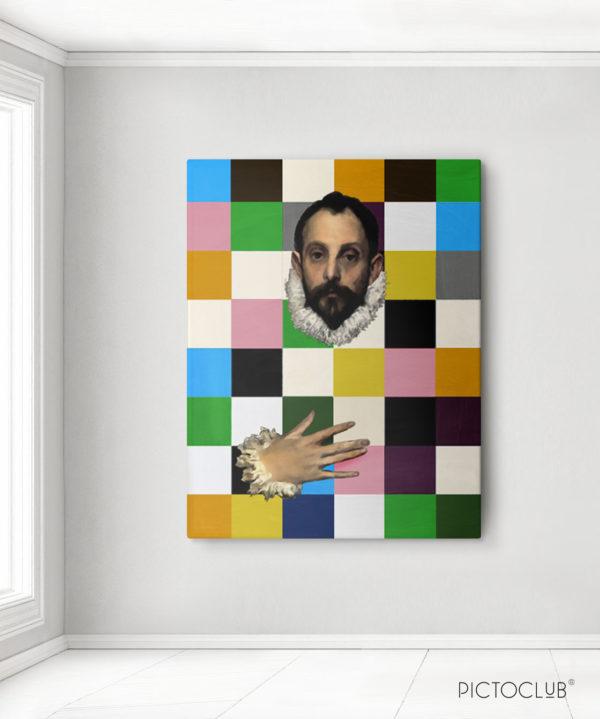 PICTOCLUB Painting - EL CABALLERO CUBISTA - Pictoclub Originals