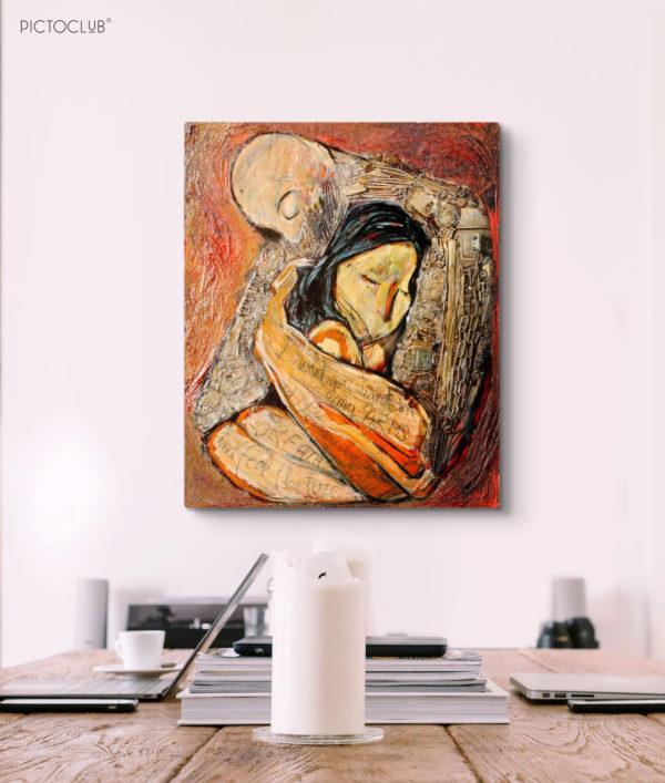 PICTOCLUB Painting - THE HUG - Saúl Gil Corona