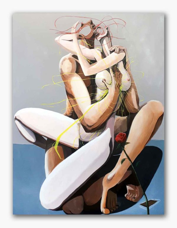 PICTOCLUB Painting - THE-ELECTRIC-HUG - Saúl Gil Corona
