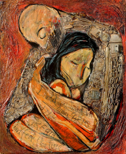 PICTOCLUB Painting - THE HUG - Saúl Gil Corona