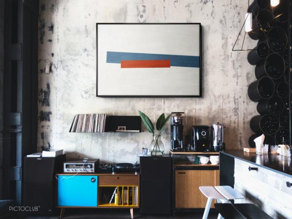 PICTOCLUB Painting - RED BLUES - Pictoclub Originals