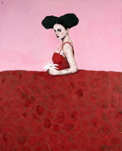 PICTOCLUB Painting - PINK-MENINA - Alfredo Palmero