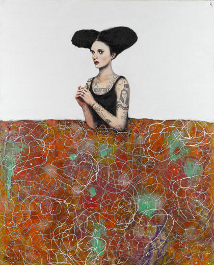 PICTOCLUB Painting - TATOOED-MENINA - Alfredo Palmero