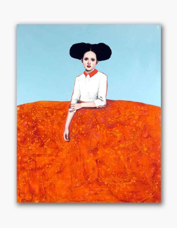 PICTOCLUB Painting - ORANGE-MENINA - Alfredo Palmero