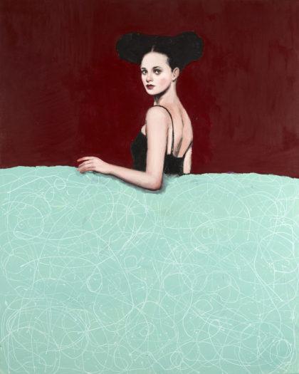 PICTOCLUB Painting - BURGUNDY-MENINA - Alfredo Palmero