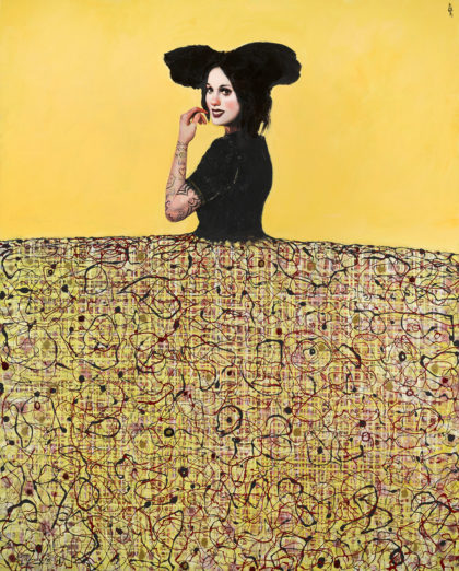PICTOCLUB Painting - YELLOW-MENINA - Alfredo Palmero