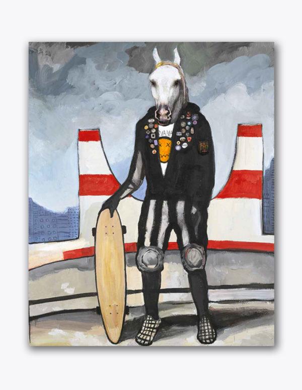 PICTOCLUB Painting - URBAN-HORSE - Alfredo Palmero