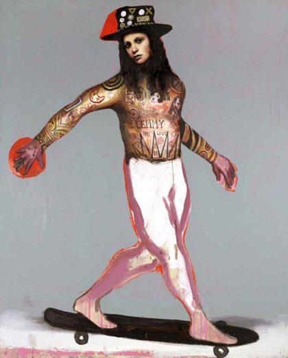 PICTOCLUB Painting - HAT-&-SKATE - Alfredo Palmero