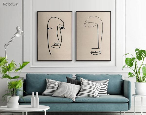 PICTOCLUB Painting - FACE 2 - Pictoclub Originals