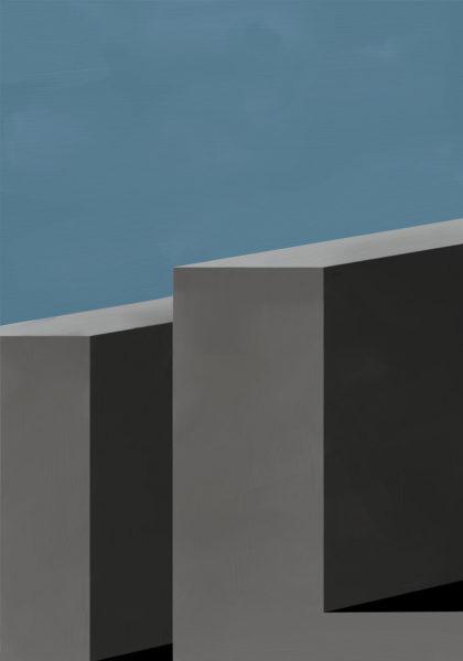 PICTOCLUB Painting - IRON BLOCKS - Pictoclub Originals