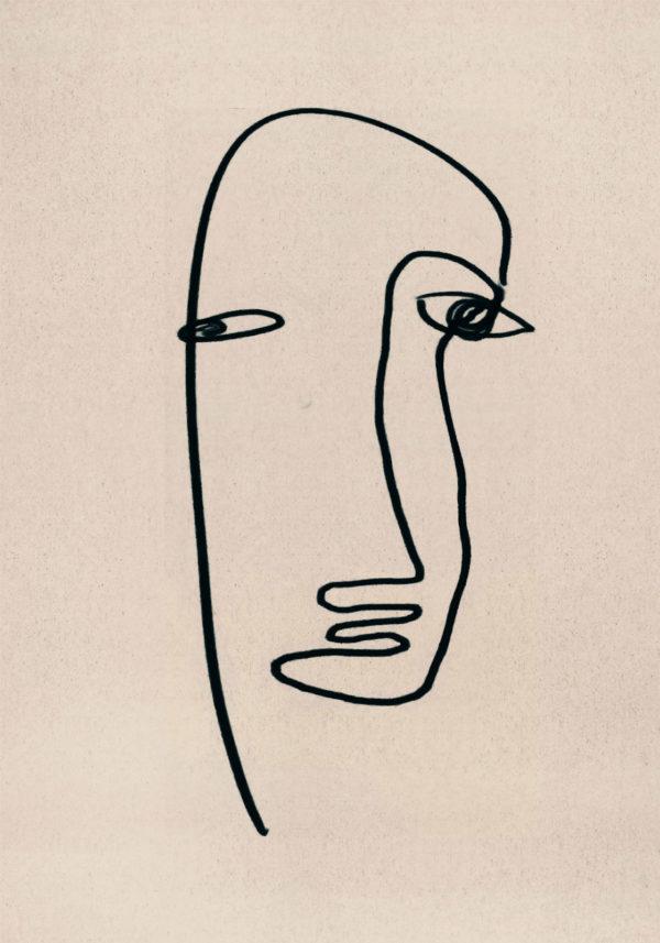 PICTOCLUB Painting - FACE 3 - Pictoclub Originals