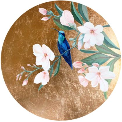 PICTOCLUB Painting - HUMMINGBIRD ON BRANCH - Esther Moreno
