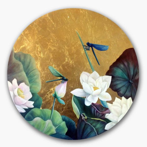 PICTOCLUB Painting - DRAGONFLIES - Esther Moreno