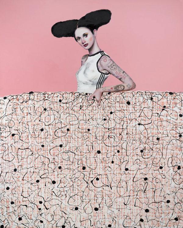PICTOCLUB Painting Photographs - TATTOO PINK MENINA - Alfredo Palmero