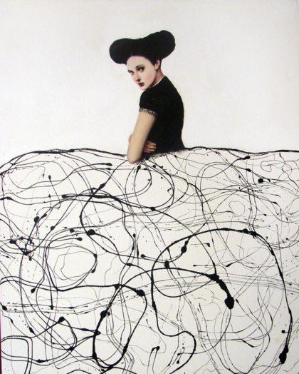PICTOCLUB Painting Photographs - BLACK AND WHITE MENINA - Alfredo Palmero