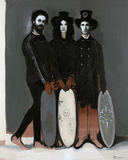 PICTOCLUB Painting Photographs - BLACK LONG BOARDS - Alfredo Palmero
