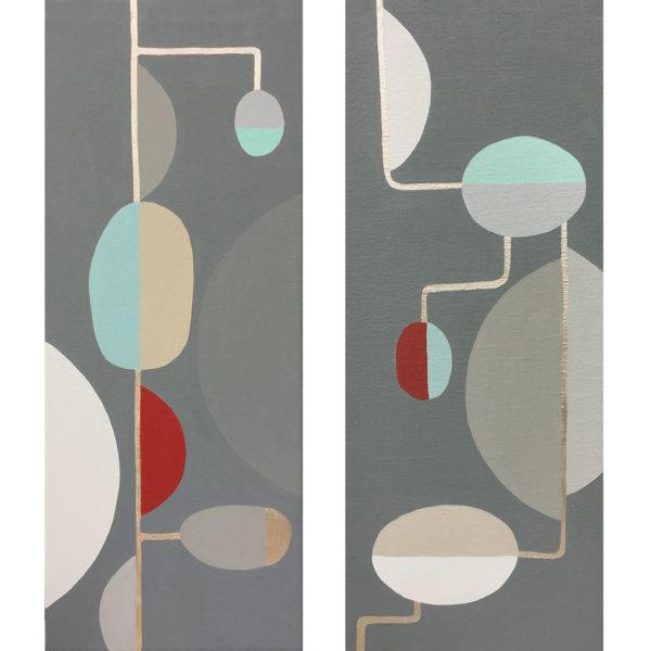 PICTOCLUB Painting - TUBULAR LINK I - II - Gima Pórtera