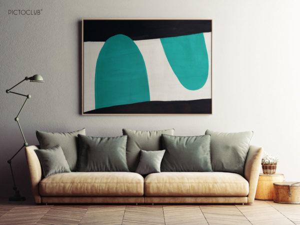 PICTOCLUB Painting - TRACK BLUE - Pictoclub Originals