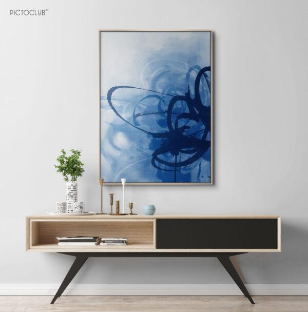 PICTOCLUB Painting - BLUE CURRENTS - Pictoclub Originals