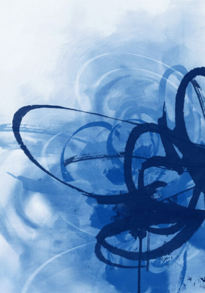 PICTOCLUB Painting - BLUE CURRENTS - Pictoclub Originals