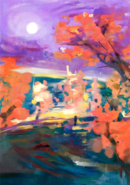 PICTOCLUB Painting - AUTUMN IN HIDE PARK - Pictoclub Originals