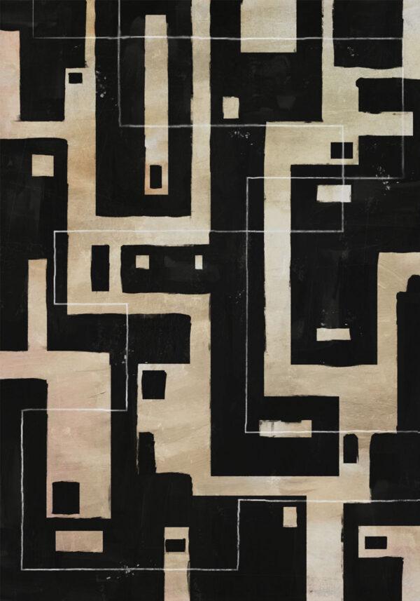 PICTOCLUB Painting - BLACK & HONEY - Pictoclub Originals