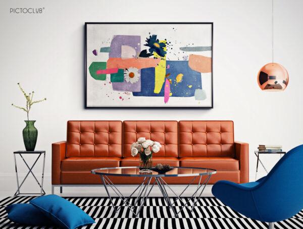 PICTOCLUB Painting - BLUE CASCADA - Pictoclub Originals