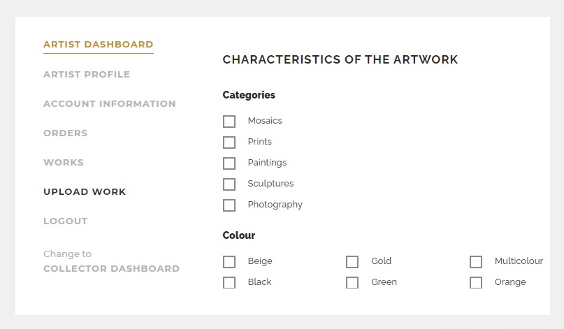 PICTOCLUB Attributes of the Artworks