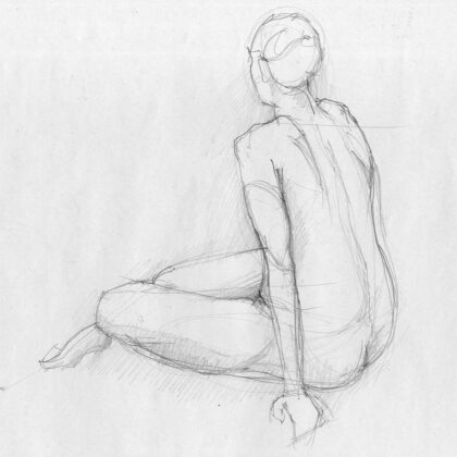 PICTOCLUB Photographs - WOMAN SKETCH - Pictoclub Originals