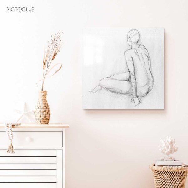 PICTOCLUB Photographs - WOMAN SKETCH - Pictoclub Originals