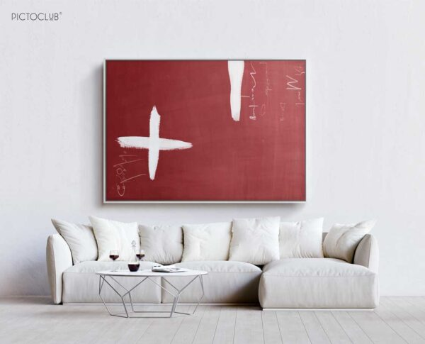 PICTOCLUB Painting - WHITE-CROSS - Pictoclub Originals