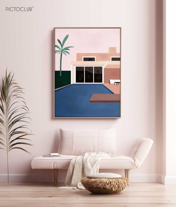 PICTOCLUB Painting - MONACO POOL - Pictoclub Originals