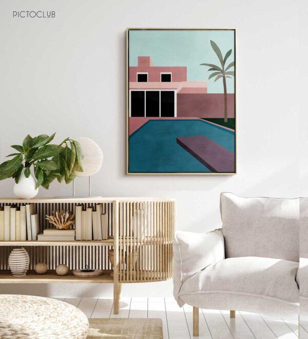 PICTOCLUB Painting - MIAMI POOL - Pictoclub Originals