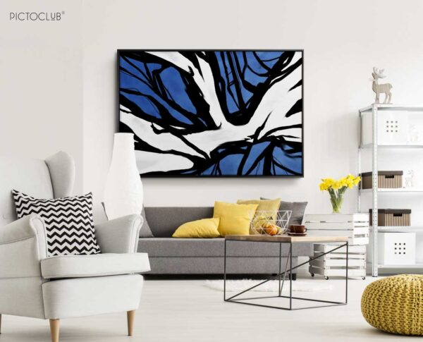 PICTOCLUB Painting - ROOTS-BLUE - Pictoclub Originals